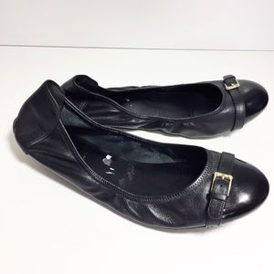 Cole Haan black leather buckle flats size 10.5